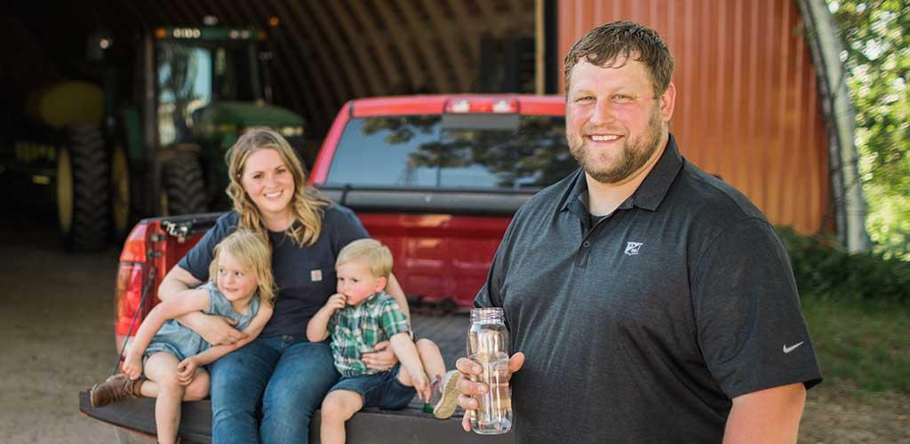 Wisconsin corn farmer Ryan Ripp's family